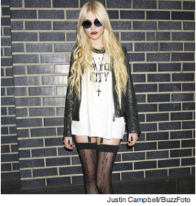 SPOTTED: Gossip Girl's Taylor Momsen confusing tights for leggings. FYI: Tights are not the same as leggings, ladies.
